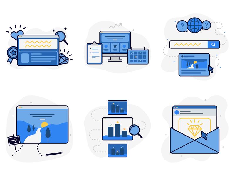 Digital Marketing Graphics web graphic digital marketing flat vector web icon design illustration