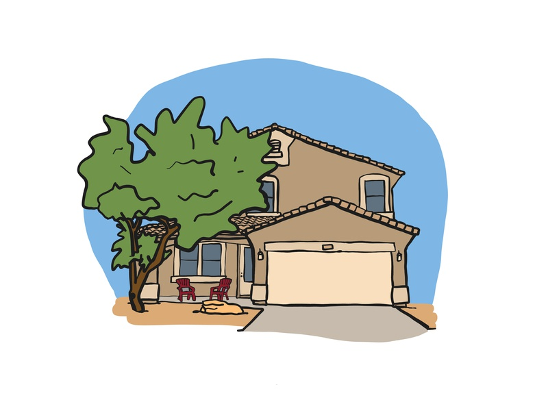 Arizona Home flat illustration