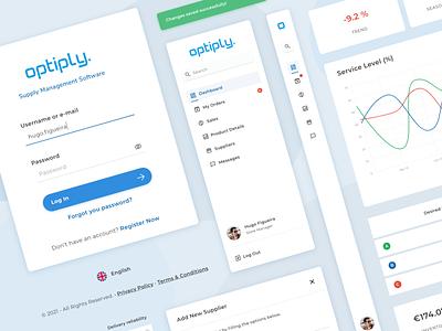 Supply Management App redesign login chart menu components analytics ux ui design web logo management manager app stock