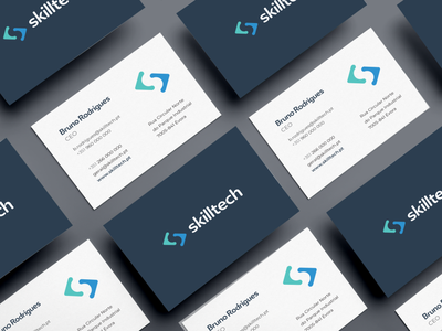 Skilltech Business Cards typography vector logo card design design business card design branding tech business card card business