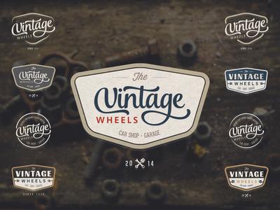 Retro Logo Badge - Car Shop Garage retro logo badge vintage wheels car workshop shop garage
