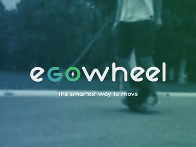 WIP - eGO Wheel logo electric vehicle logo blue green energy ride bike