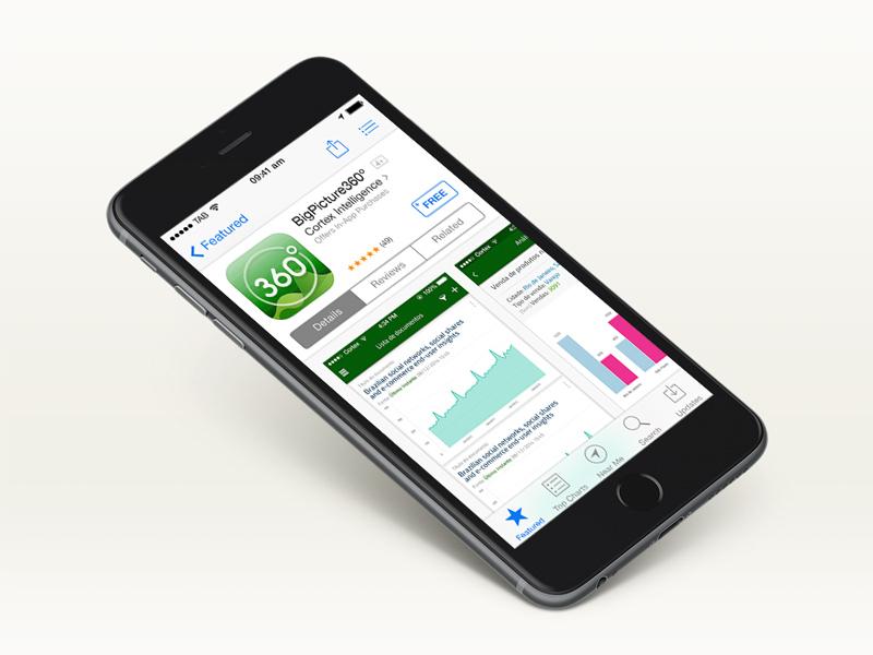 Business Intelligence Platform green iphone screen store app icon