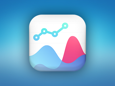 Business Intelligence Mobile App blur ios application gradient pink blue analysis icon app mobile