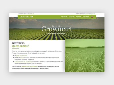 Growmart website - WIP responsive market biologic bio products green farm
