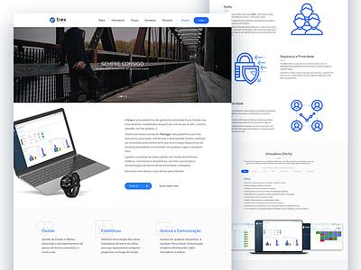 ti-ex website shot calendar dashboard activity platform tracking mac icon web website white blue tiex