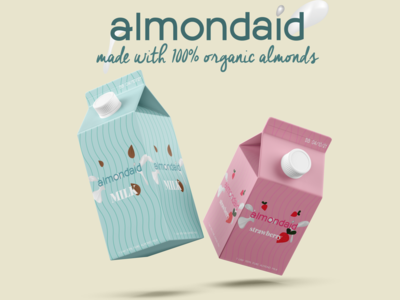 Almondaid Milk branding concept product design strawberry graphic design design organic malta milk adobe illustrator advertising adobe photoshop graphic designer graphic deisgn graphicdesign brand identity branding design graphics graphic branding