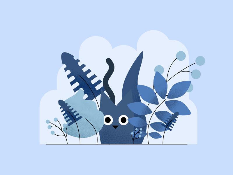 The Cat Illustration vector monochromatic cat affinity designer illustration