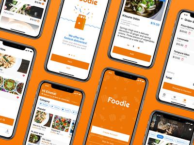 Foodie - Food Delivery app ux ui daily ui foodie food app food delivery app food delivery delivery food