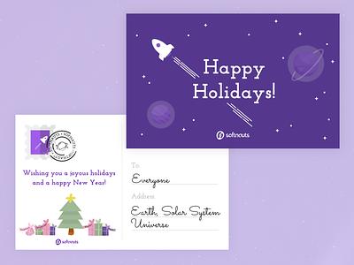 Happy Holidays! happy holidays happy new year christmas card christmas card vector illustration