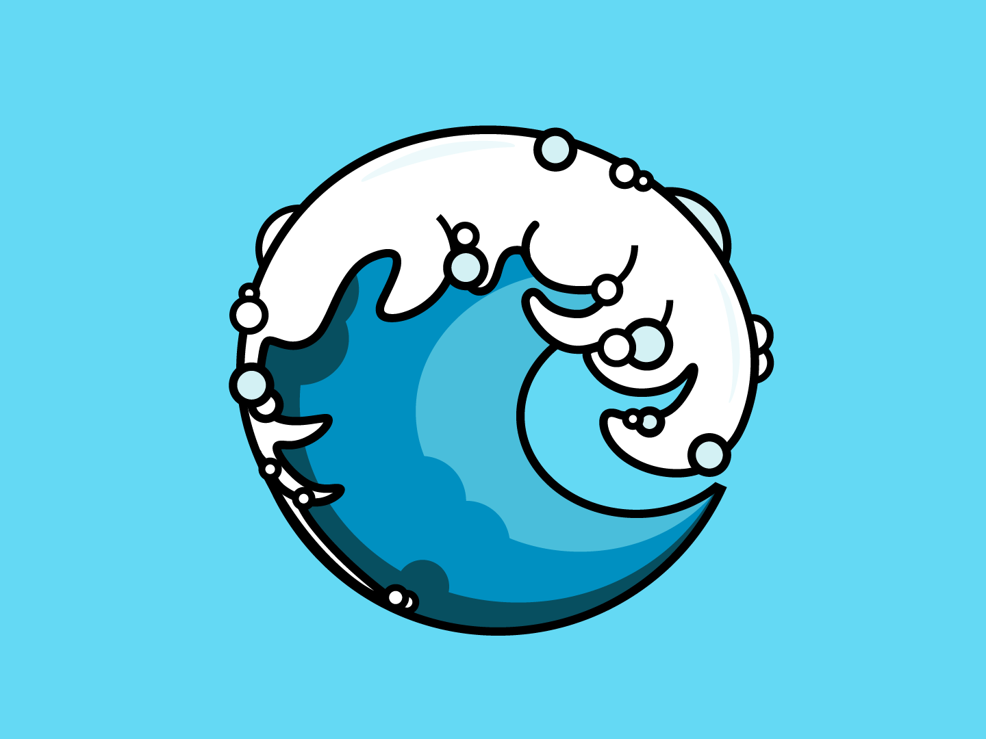 Water Wave water wave vector logo design icon illustration adobe illustrator