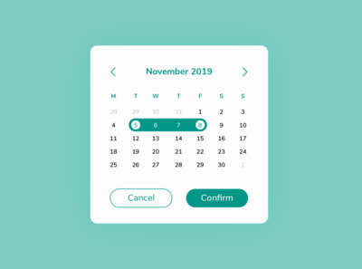 Date Picker | Daily UI #080