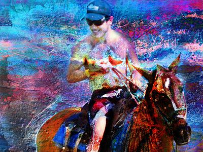 Christophe à cheval à Panama