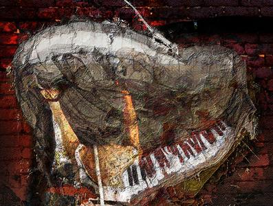 Le piano sur le mur