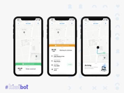 Kiwibot - Order tracking screen