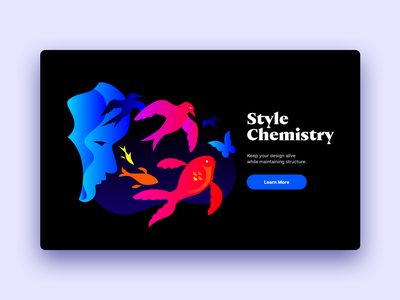 Style Chemistry: Web Design and Illustration graphic vector bird butterfly fish animal webdesign illustration website design web design website web