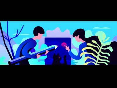 Collaboration illustration vector