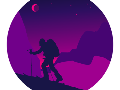 touring - purple. illustration for use on a personal website
