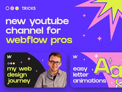 Best YouTube Channel for Webflow Pros development developer website builder website design lessons courses course tutorials tutorial youtube channel youtuber youtube webflowapp madeinwebflow webflow