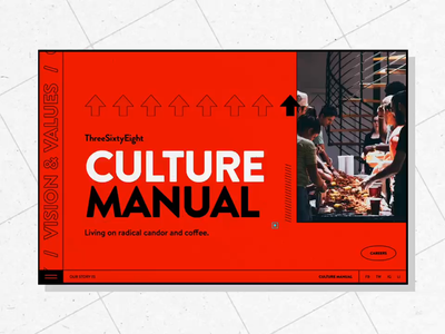 TSE Culture Manual video homepage animation old book webflow website modern game interactive interaction industrial red design ux userinterface ui brutalism lander culture manual