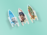 Hypergiant Rocket Stickers