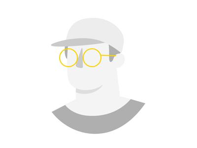 no accessories boy ui app mobile product lottie motion vector illustration liveness onboarding glasses cap accessories