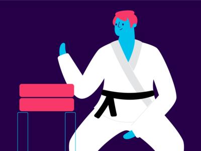 martial arts! product app vector illustration fight boy martial arts karate
