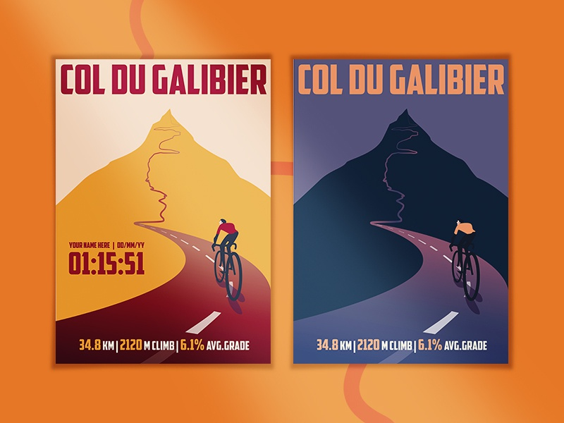 Cycling Climbs posters bike prints 2d climbs cycling adobe illustrator vector illustrator illustration graphic design design