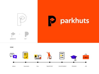 parkhuts branding