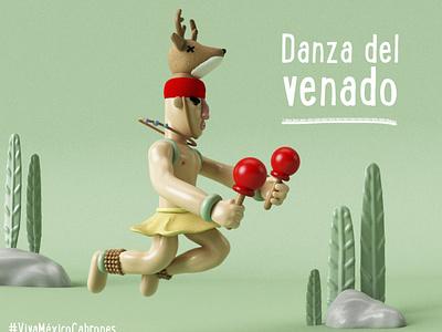 DANZA DEL VENADO illustration character design 3d art personaje 3d artist ilustration characterdesign diseño ilustración 3d