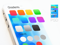iOS 7 gradients and colors PSD