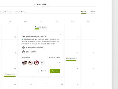 Hackathon: Volunteering calendar hackathon: volunteering calendar