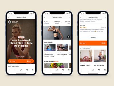 Insta Shop healthcare health landing story instagram insta challenge shopify e-commerce sport shop