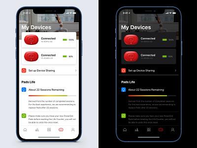 Dark Mode healthcare health bluetooth progress indicator dark mode sport device medical