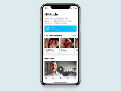 PowerDot New Home Screen ai fitness sport mockup menu iphone x ios interface