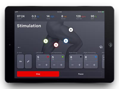 Stimulation Screen swipe sensor cards stimulation cycling device medical ipad ios health