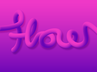 FLOW purple pink type design typograpyh