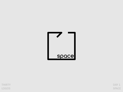 Space Logo cube office square minimal thirty logos 30 logos space logo design icon logo space
