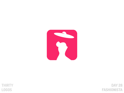 Thirty Logos: Fashionista negative space thirty logos app fashion fashionista identity brand vector illustration art design logo