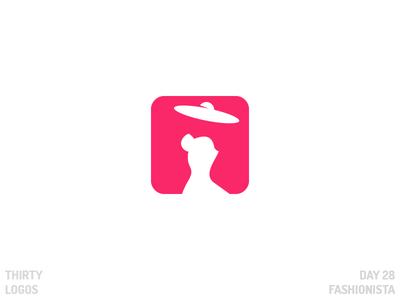 Thirty Logos: Fashionista negative space thirty logos app fashion fashionista identity brand vector illustration art design logo