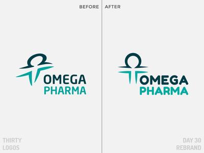 Omega Pharma Rebrand Concept omega pharma thirty logos day 30 redesign concept rebrand identity brand vector art design logo