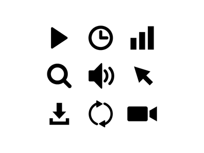 First try at Icons design area illustration minimal pictogram symbols tech icons tech iconography icons icon vector design