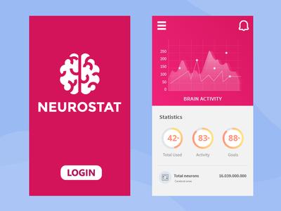 Neurostat Concept interface mobile app data brain neurostat ui design ux design design ui ux concept