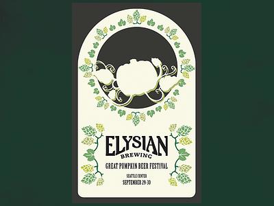 Elysian Festival Poster Idea art nouveau brewing beer elysian poster
