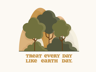 Happy Earth Day world earth mother earth conservation conserve typedesign nature illustration typography type sustainable recycle green nature tree holiday earth day
