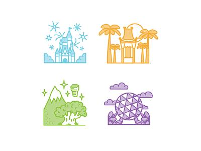 Park Spot Illustration line magic park disney illustration branding brand design logo
