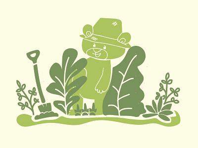 Camp Little Bear Grows a Garden illustration design shirt