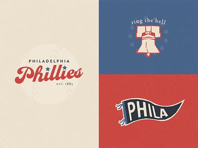 Philadelphia Phillies red white and blue american typewriter mlb baseball liberty bell gritty phanatic philadelphia philly phillies reimagined