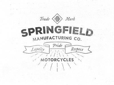 Springfield Motors logo bedge hipster logo vintage retro premium cafe motor motorcycle typography insignia stamp