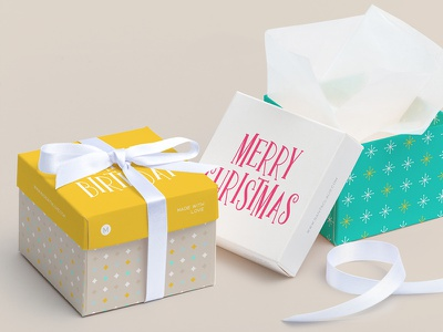 Box Design design box gift letter christmas birthday surprise typography type typeface font